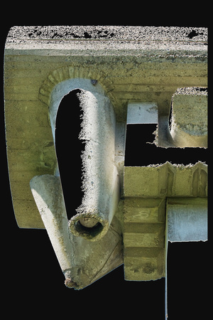 ©Ridenour_Cement Sculpture Abstract on black-2